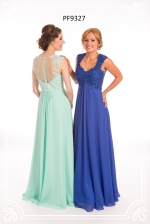 mint and sapphire blue prom dress