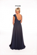 midnight blue prom dress