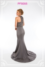 gunmetal evening gowns